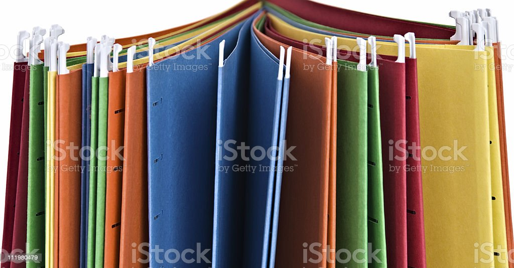 Hanging File Folders royalty-free stock photo