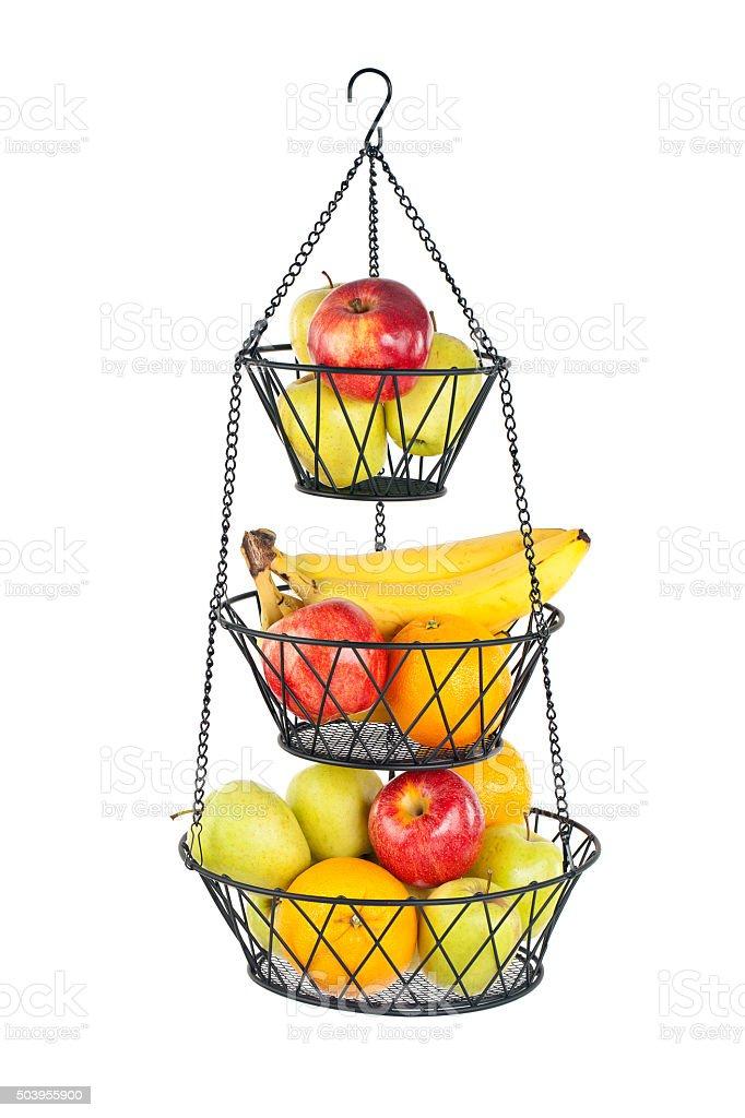 Hanging Fruit Basket stock photo