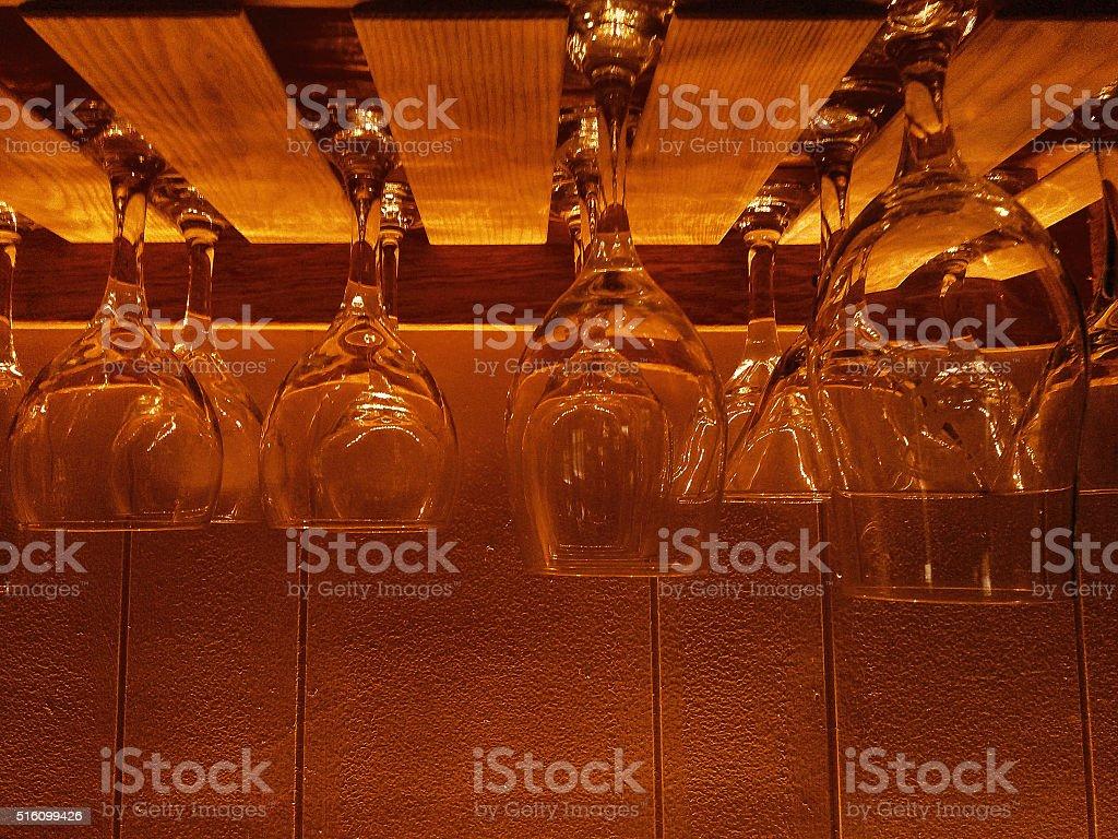 Hanging Glasses stock photo
