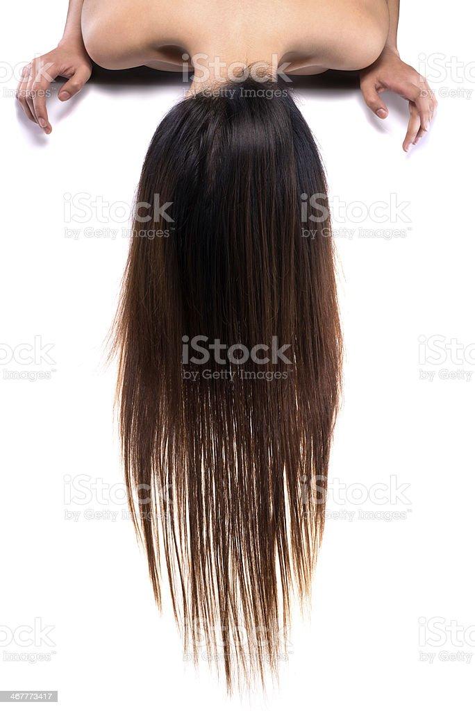 hanging hair royalty-free stock photo