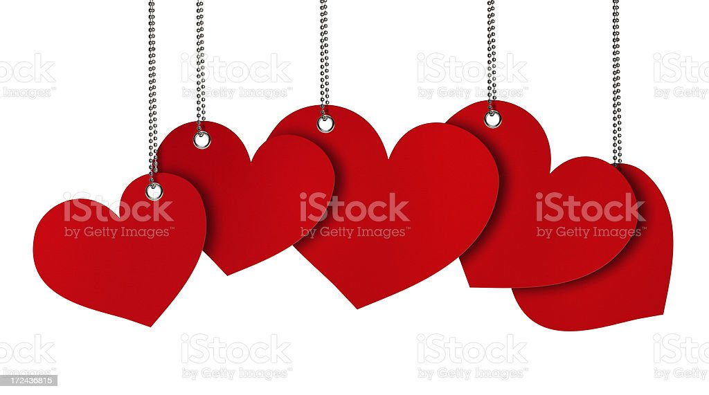 Hanging Hearth Shape Bubbles stock photo