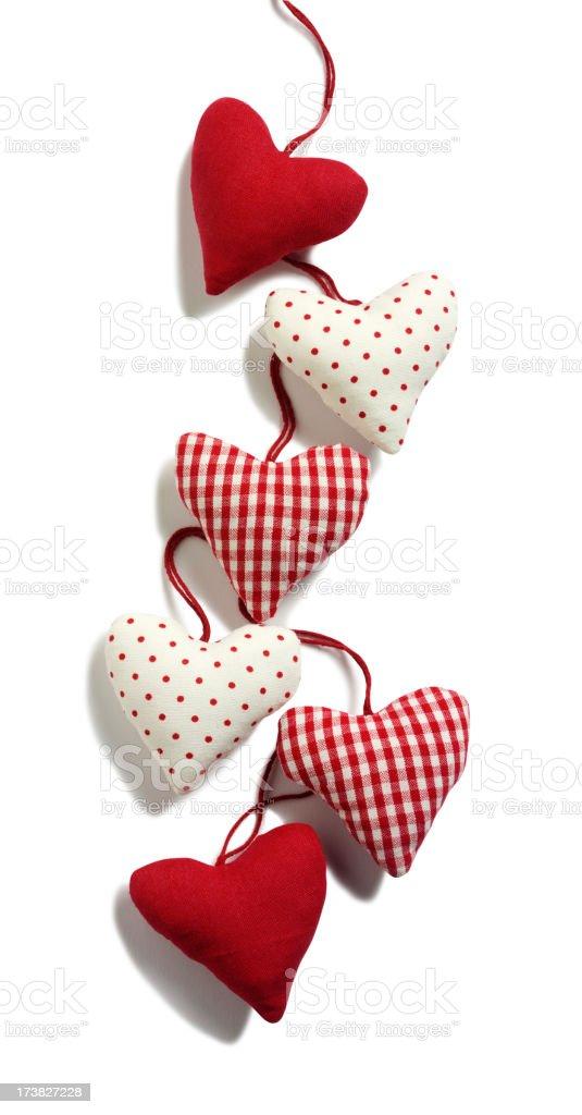 Hanging Hearts royalty-free stock photo