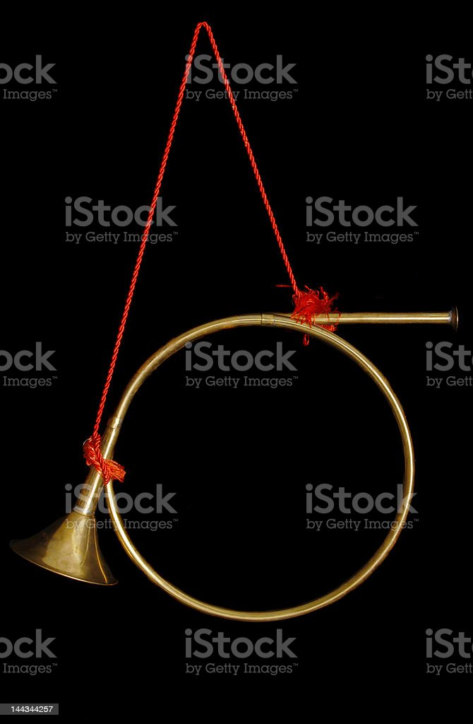 Hanging Holiday Horn royalty-free stock photo