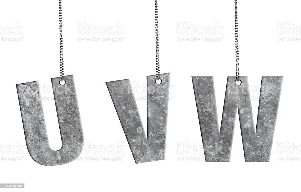 Hanging Iron Alphabet (Clipping Path) stock photo