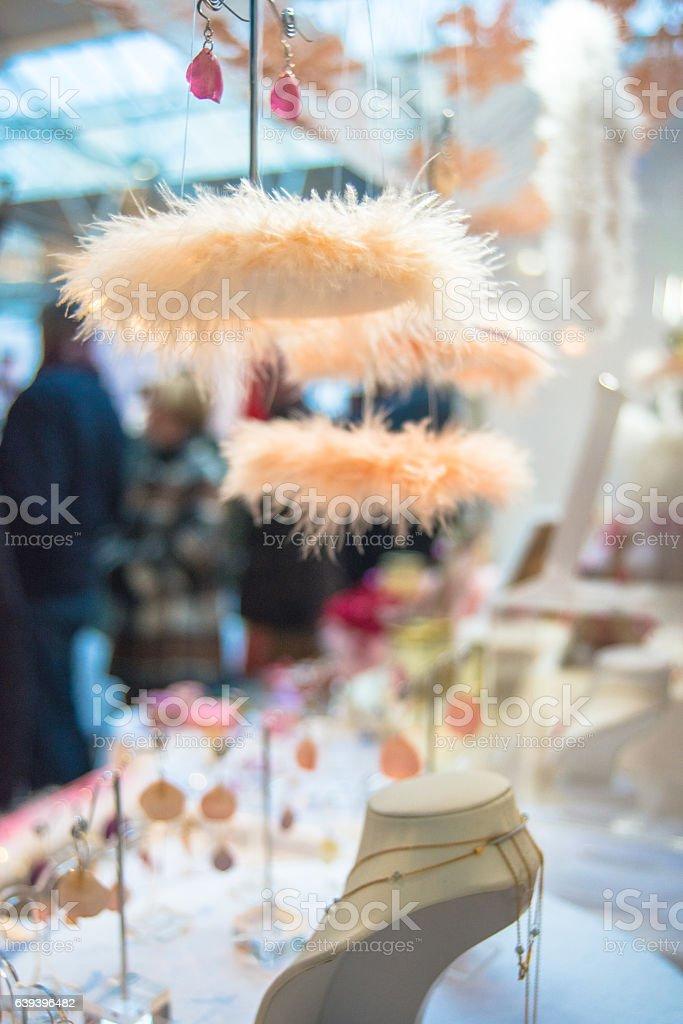 Hanging Jewelry at Camden Market, London, UK stock photo