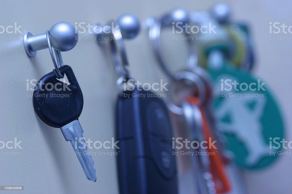 Hanging keys royalty-free stock photo
