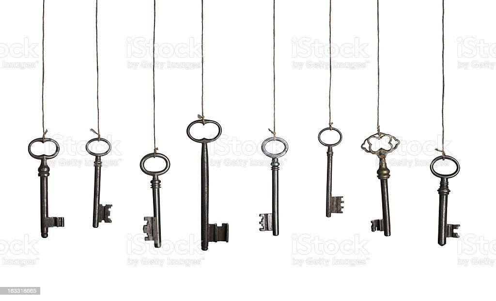 Hanging Keys (XXXL) stock photo