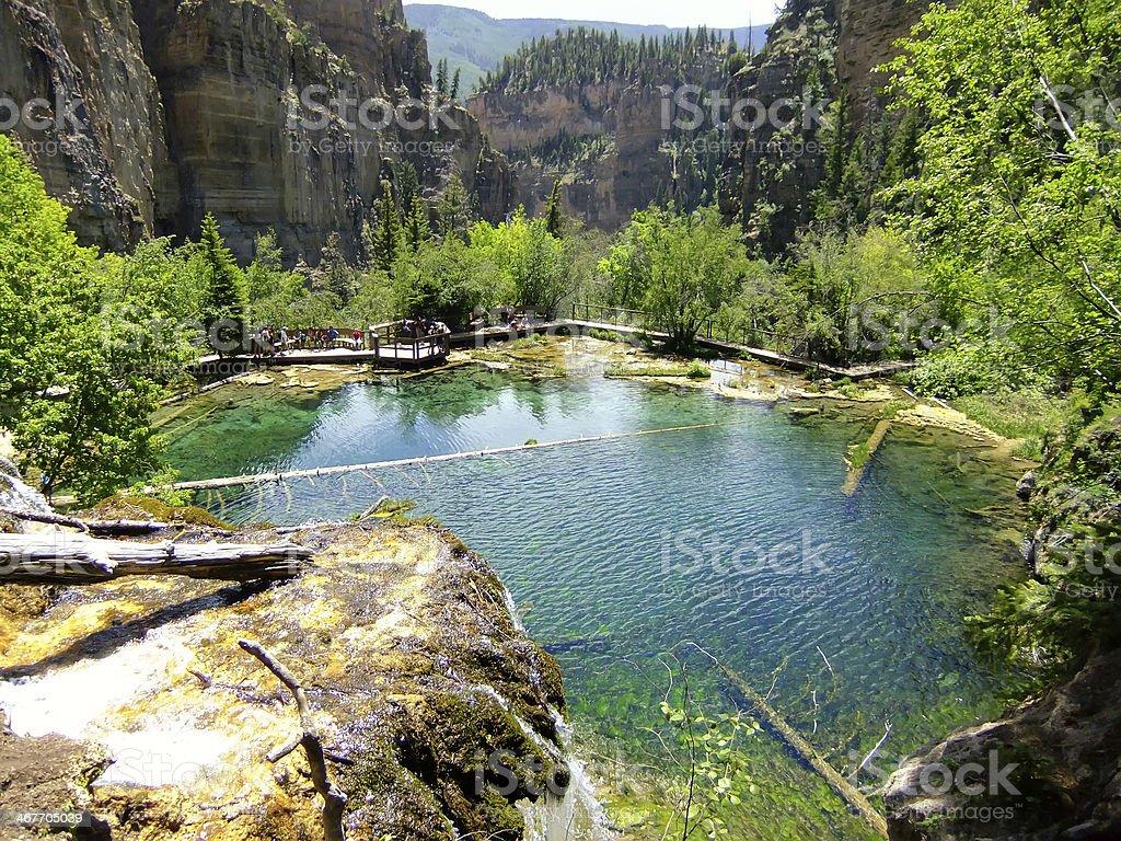 Hanging lake, Glenwood Canyon, Colorado stock photo