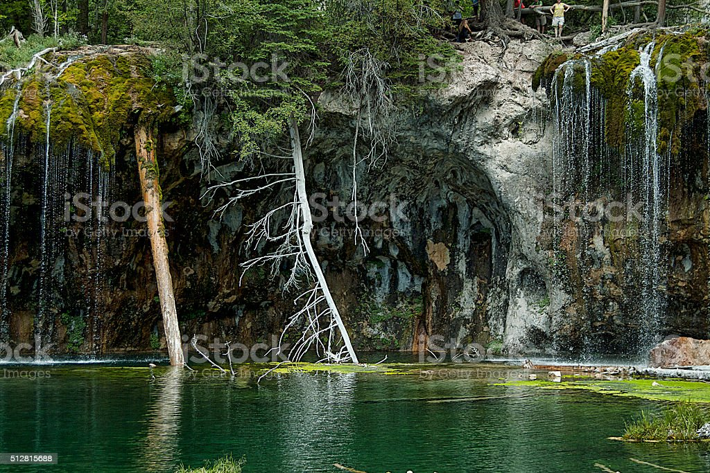 Hanging Lake Scale stock photo