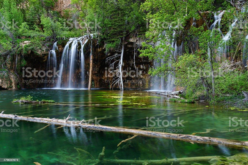 Hanging Lake Scenic Landscape Glenwood Canyon stock photo
