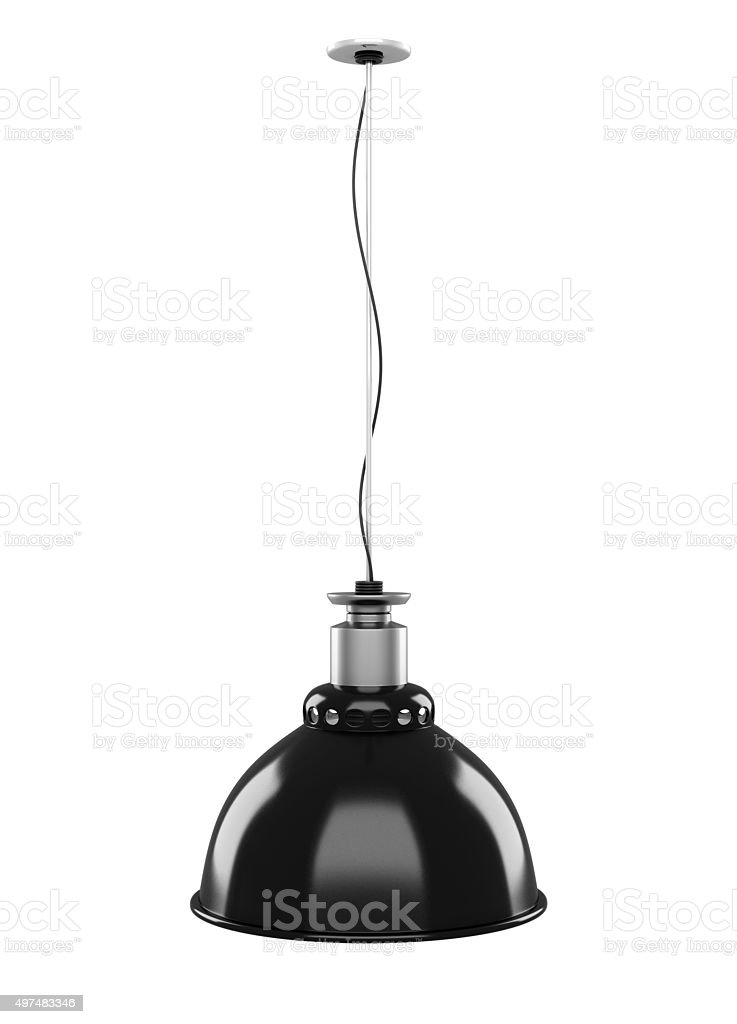 Hanging lamp isolated on white background. 3d. stock photo