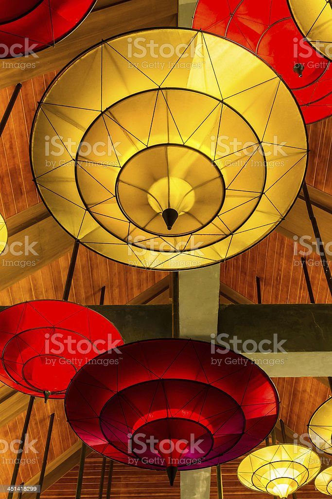 Hanging lamps. royalty-free stock photo