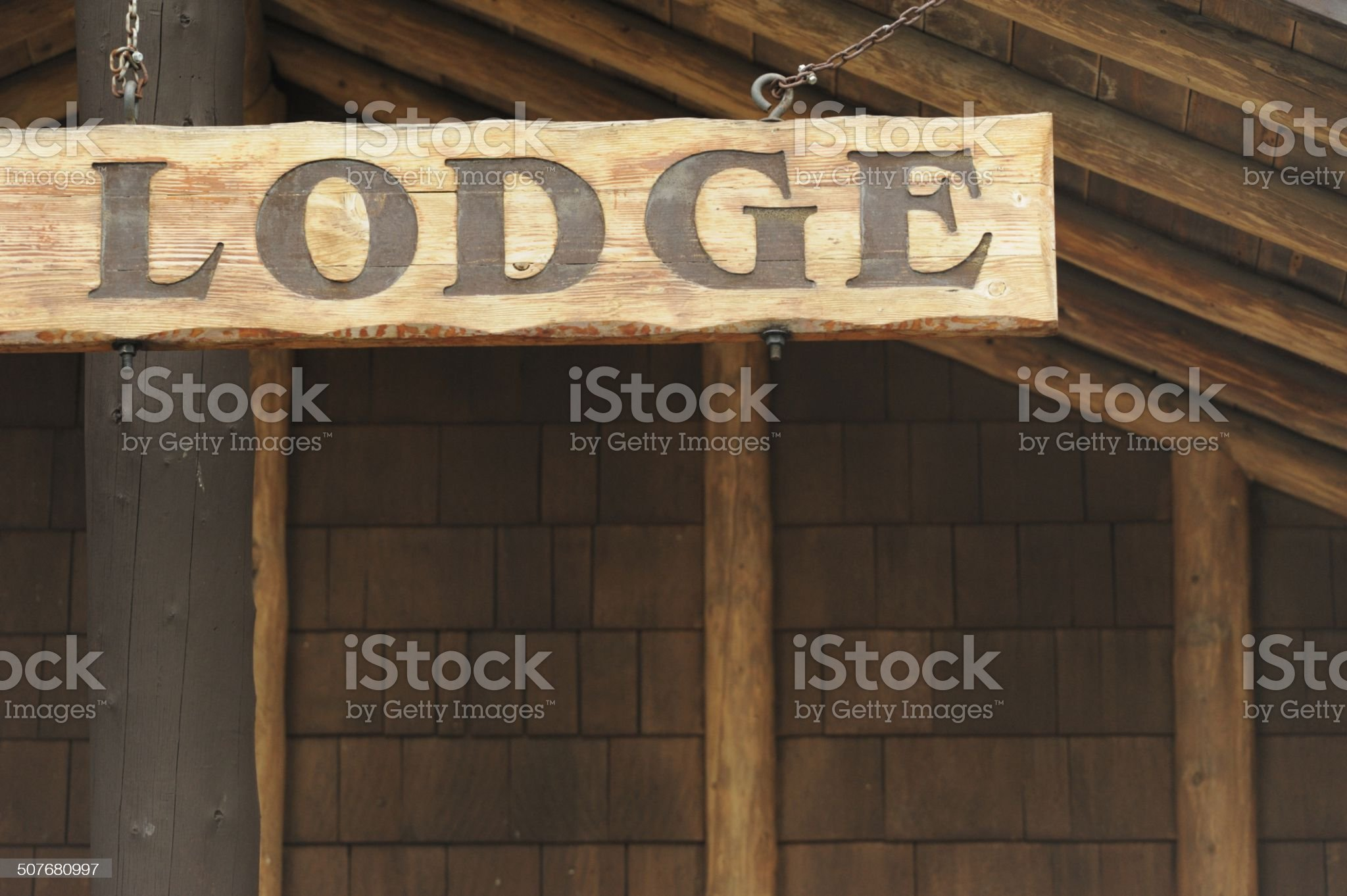 Hanging lodge sign royalty-free stock photo