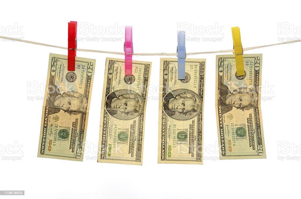 Hanging Money royalty-free stock photo