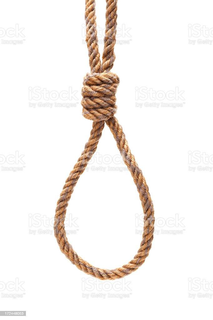 Hanging noose rope royalty-free stock photo