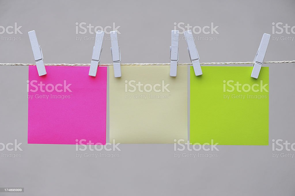 Hanging Notepads royalty-free stock photo