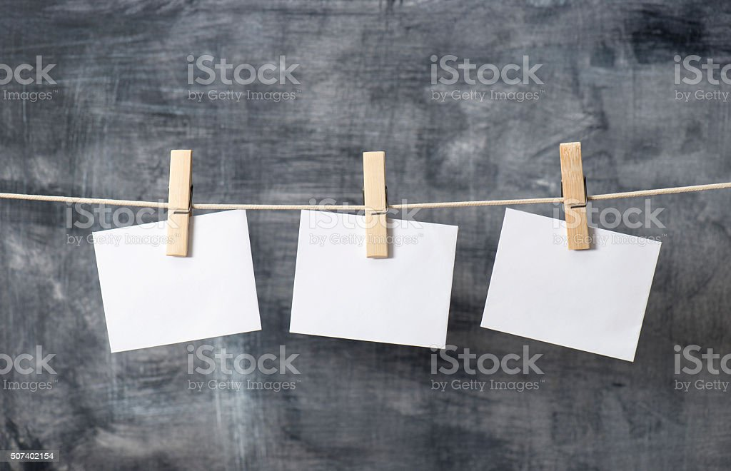 Hanging Notes stock photo