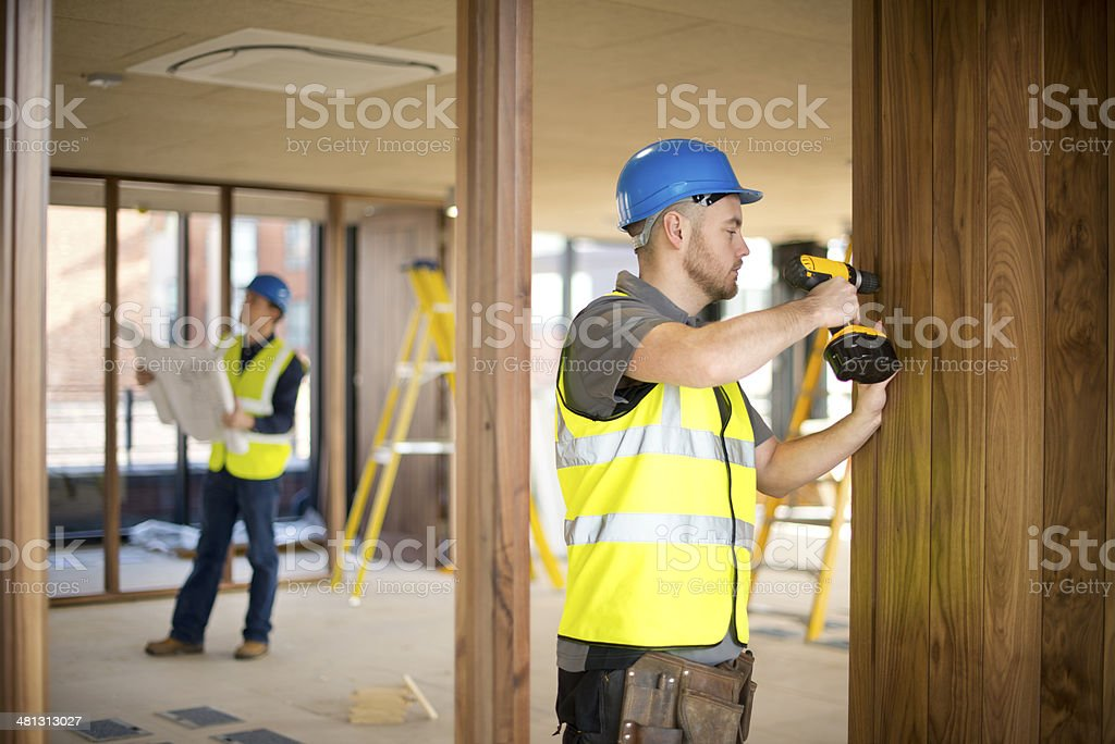 hanging office doors stock photo
