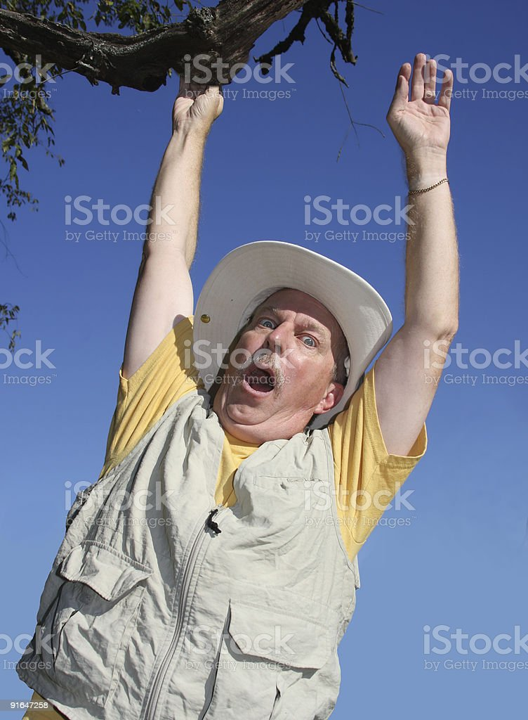 Hanging On For Dear Life stock photo