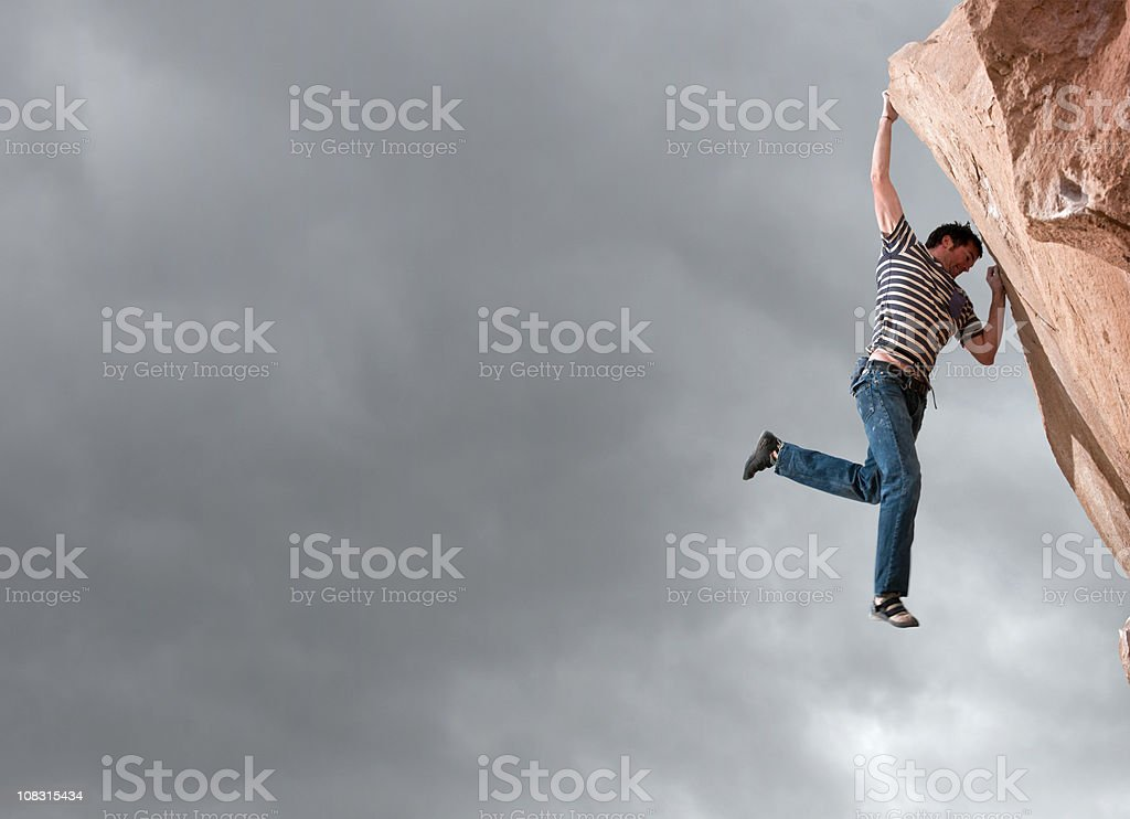 Hanging On royalty-free stock photo