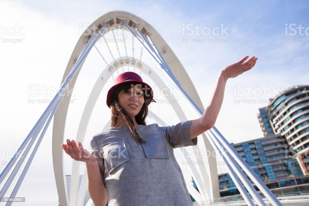 Hanging Out at Seafarers Bridge stock photo
