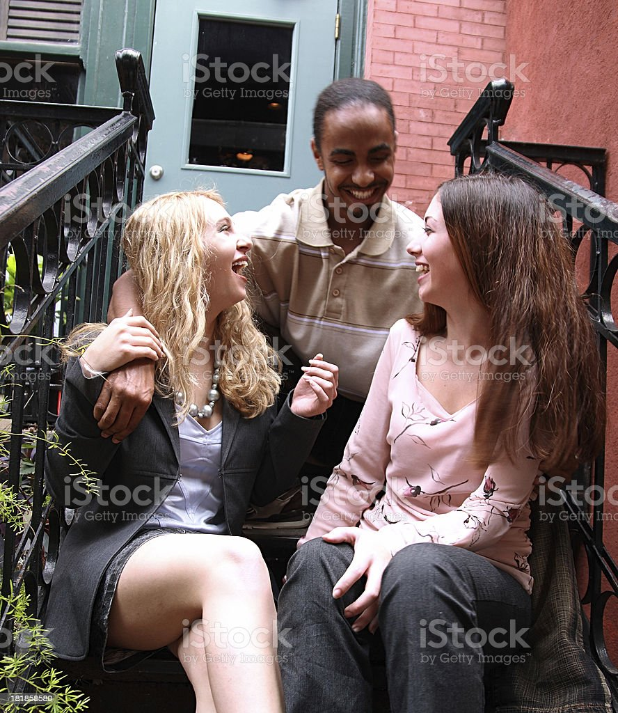 Hanging Out Chatting stock photo