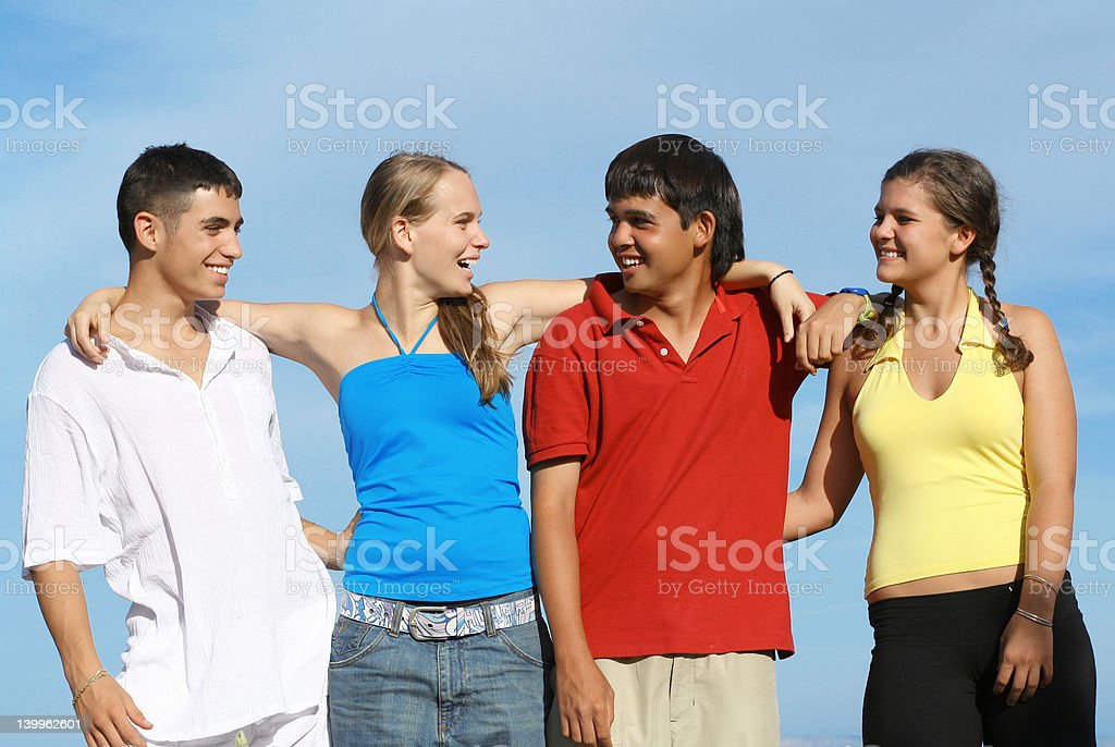 Hanging out together royalty-free stock photo