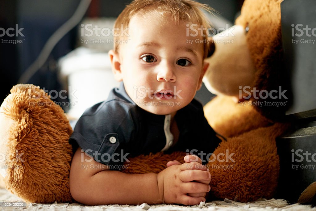 Hanging out with my homeboy, Teddy stock photo