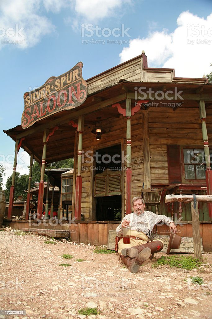 Hanging Outside The Saloon stock photo