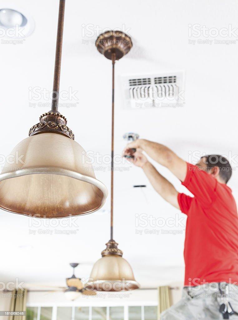Hanging Pendant Lights royalty-free stock photo