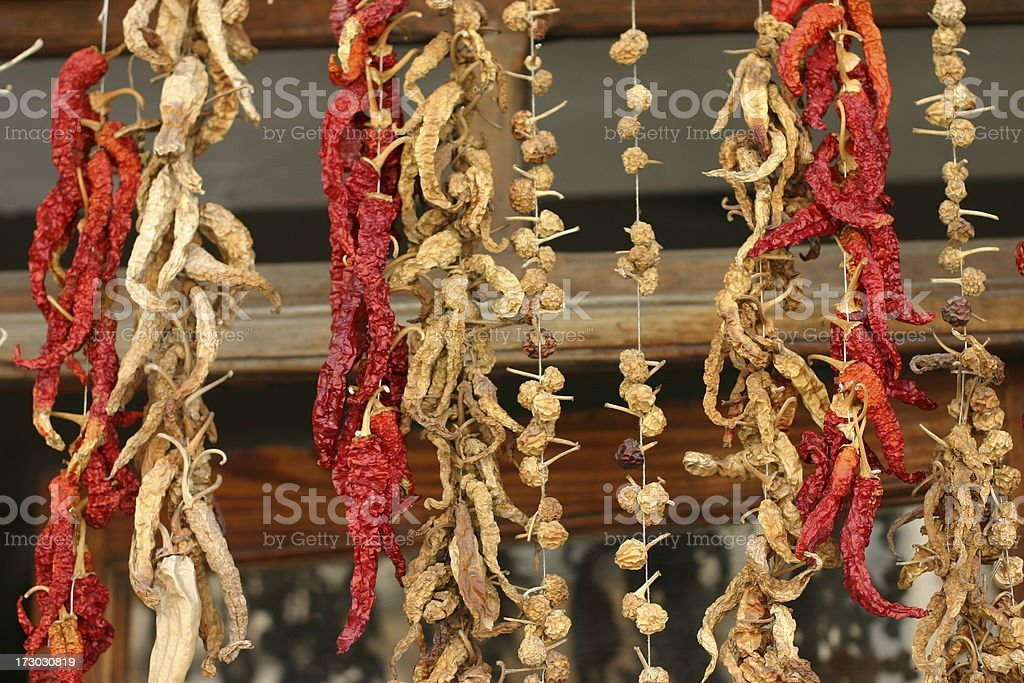 hanging pepper royalty-free stock photo
