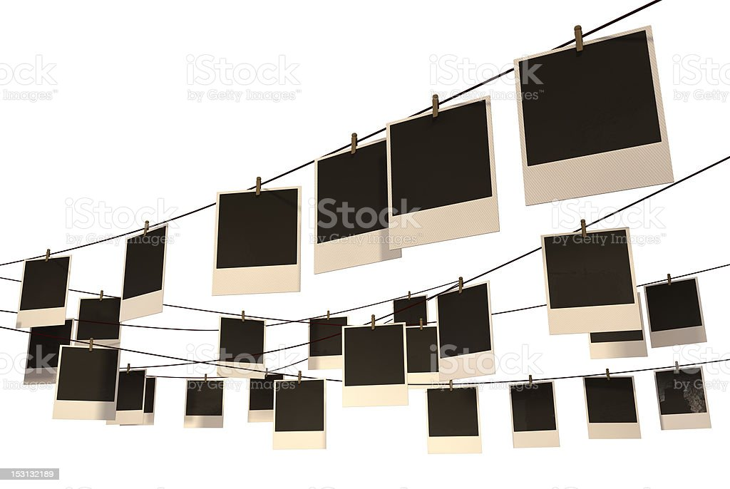 Hanging Photograph Gallery stock photo