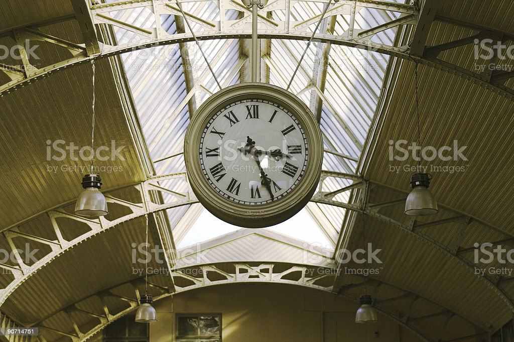 Hanging public clocks royalty-free stock photo