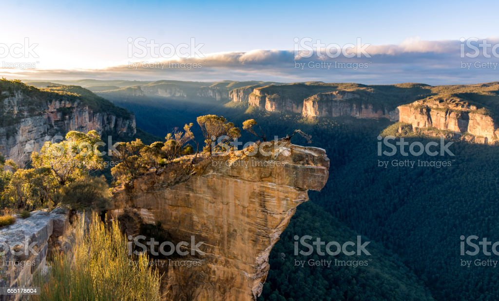 Hanging rock lookout stock photo