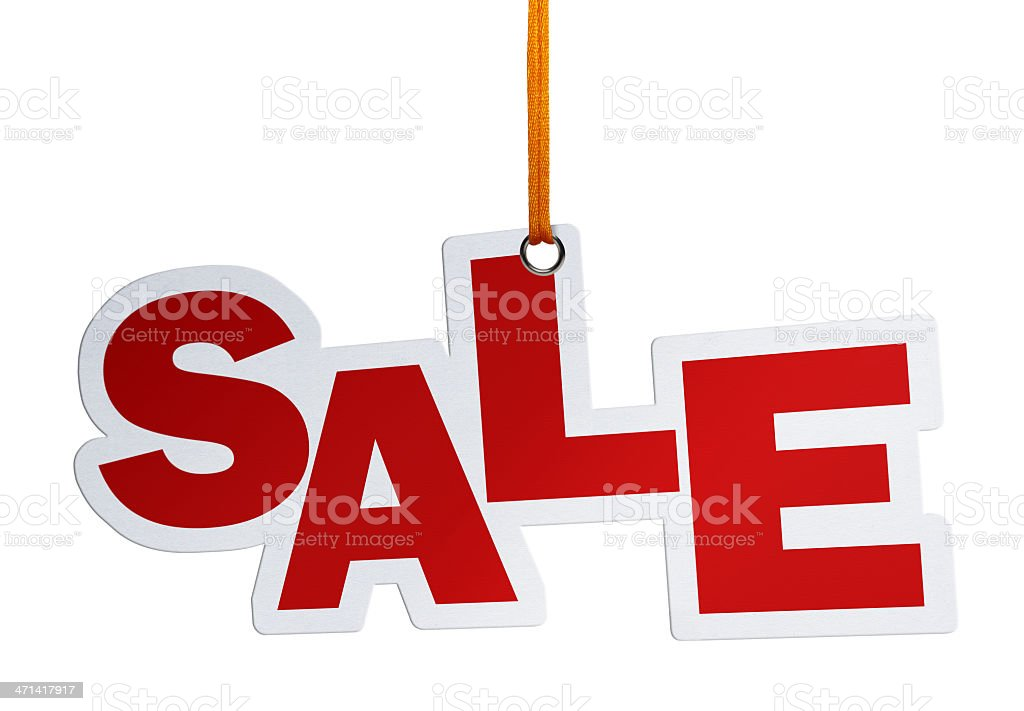 Hanging Sale, Speech Bubble (Clipping Path) royalty-free stock photo