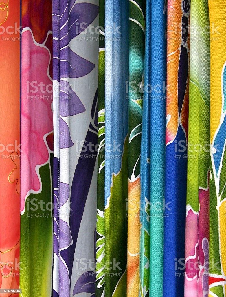 Hanging Sarongs stock photo
