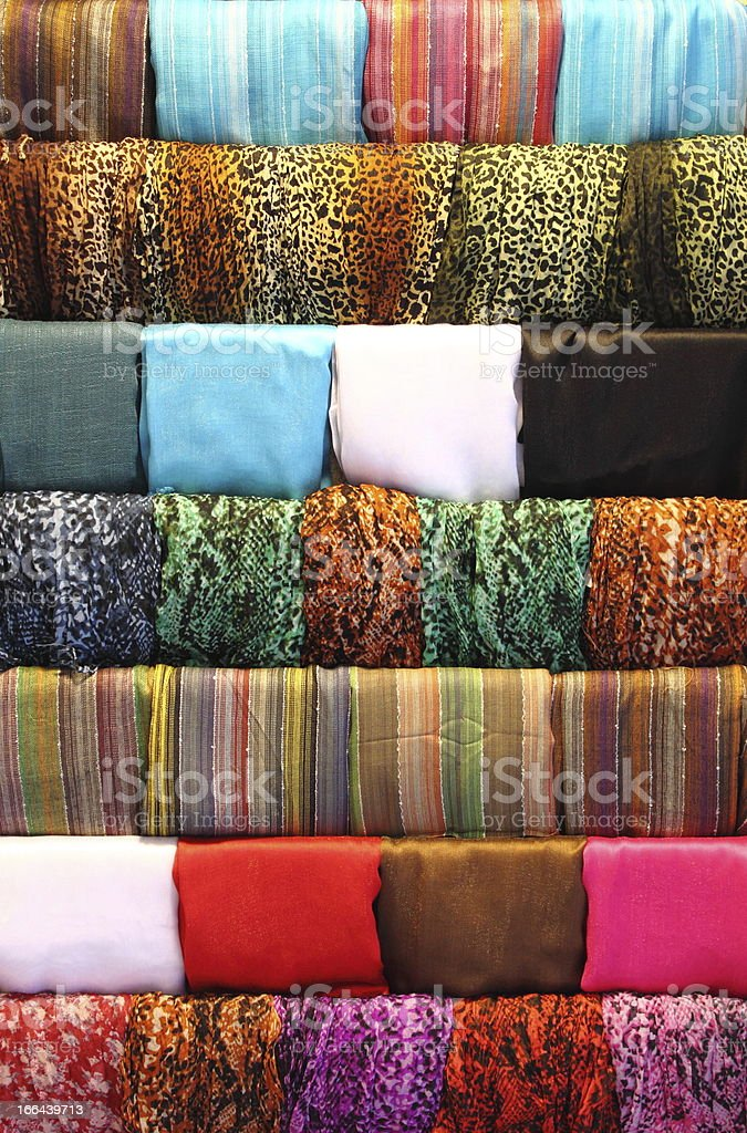 Hanging scarves royalty-free stock photo
