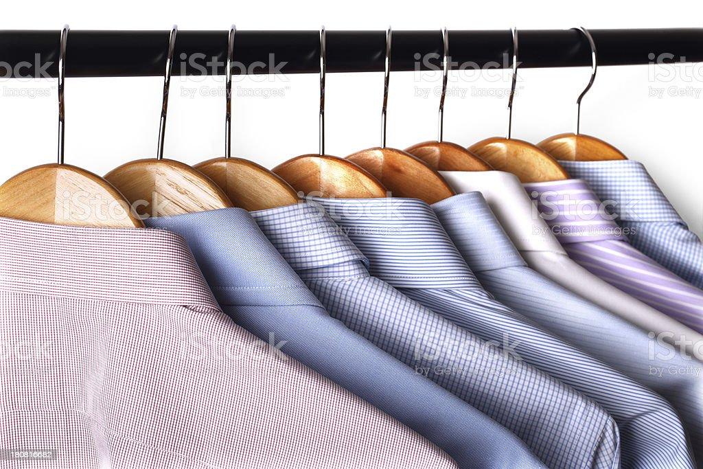 Hanging shirts royalty-free stock photo