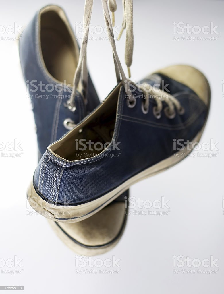 Hanging sneakers royalty-free stock photo