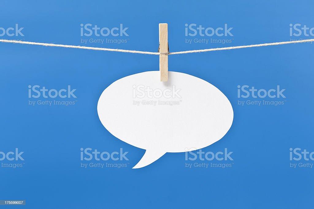 hanging speech bubble royalty-free stock photo