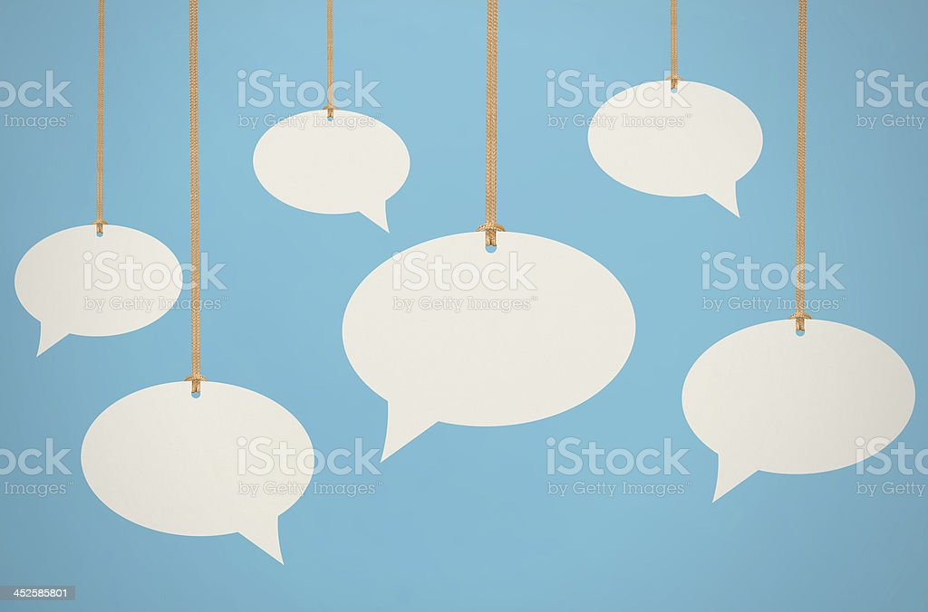 Hanging Speech Bubbles stock photo