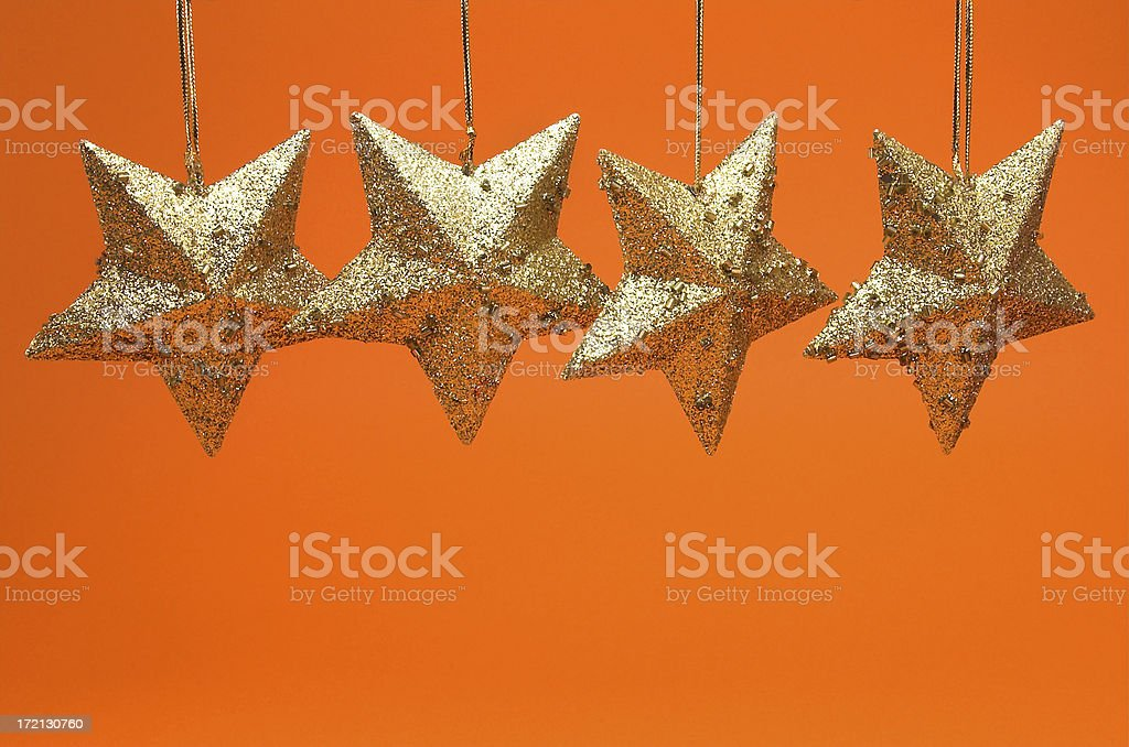 Hanging stars royalty-free stock photo