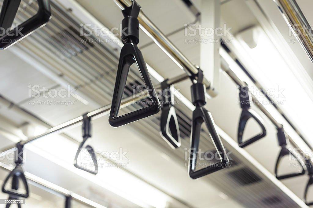 Hanging straps royalty-free stock photo