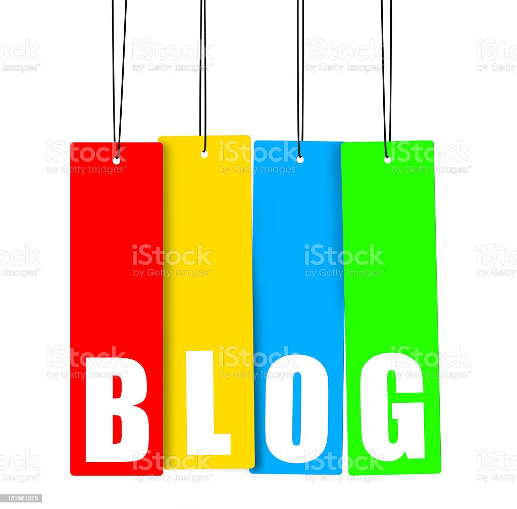 BLOG hanging tag, clipping paths included. royalty-free stock photo