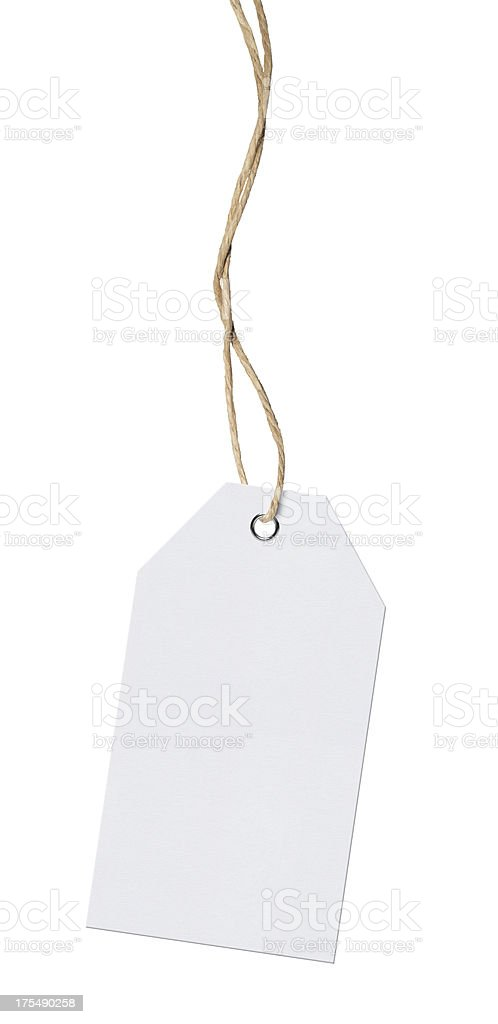 Hanging Tag (Clipping Path) stock photo
