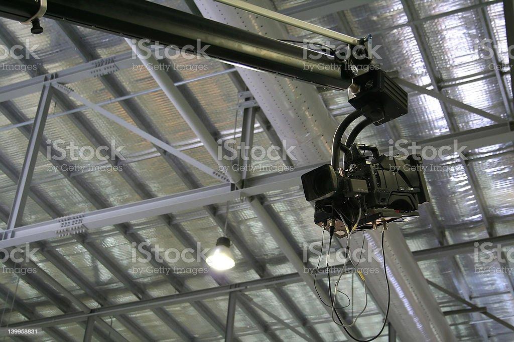 ぶら下がるテレビカメラ ロイヤリティフリーストックフォト