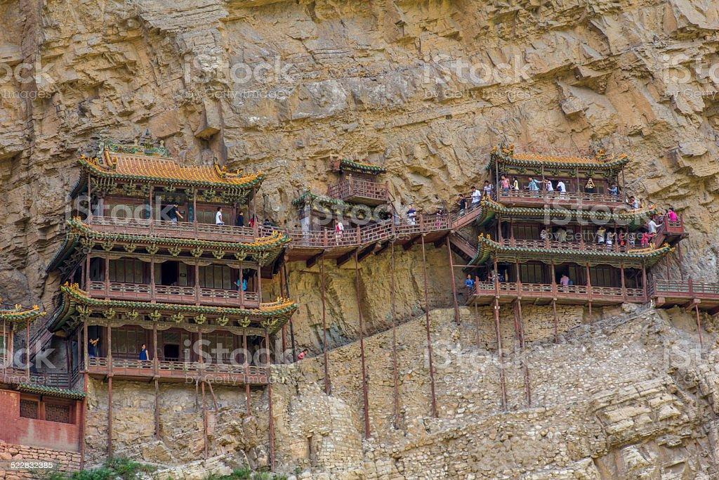Hanging Temple Henshang Mountain stock photo