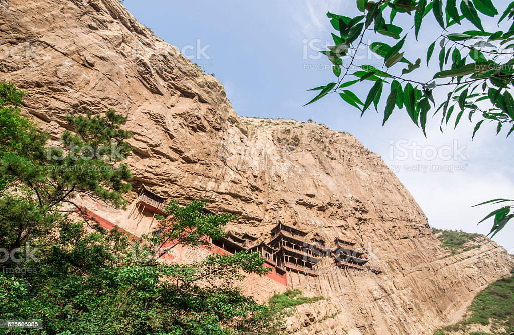 Hanging temple in Shanxi province,China stock photo