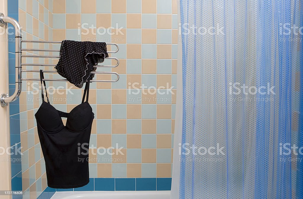 Hanging to dry off royalty-free stock photo