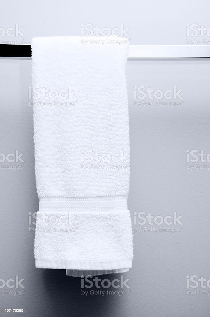 Hanging Towel, Hotel Bathroom stock photo